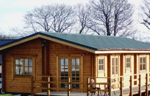 Hampton Court Holiday Park accessible cabin with ceiling track hoist