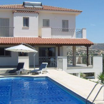 Villa Carpe Diem in Maroni, Cyprus. View from the pool and terrace area