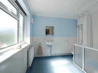 Accessible bathroom,Seastar, Deal, Kent.